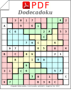 graphic relating to Jigsaw Sudoku Printable named Jigsaw sudoku 12x12 puzzles PDF in the direction of obtain - Abnormal